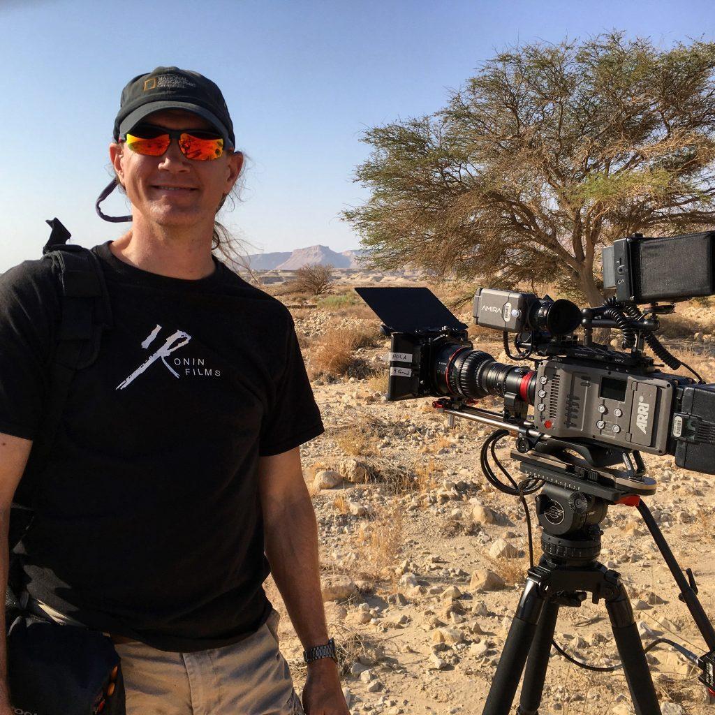 Doug Bischoff with Arria Amira near Masada, Israel