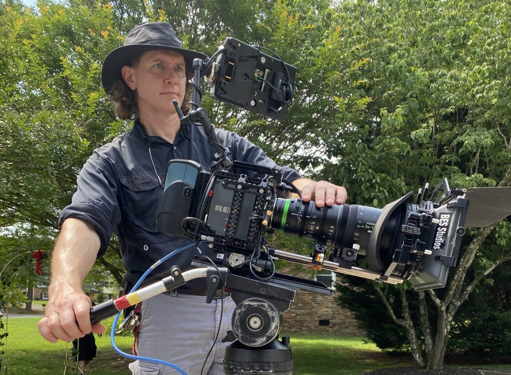 Douglas Bischoff operating a Red Scarlet camera